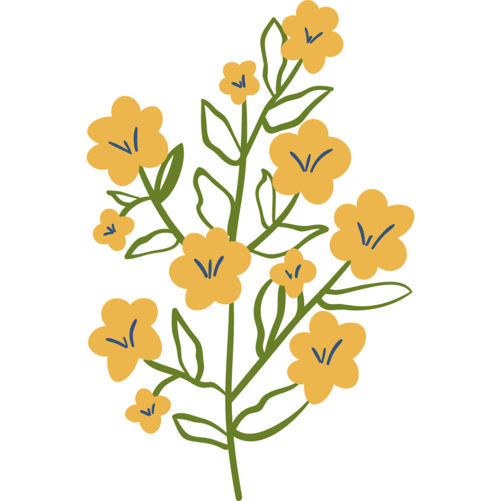 yellow flower graphic